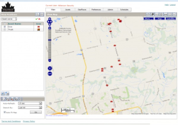 Vehicle Live GPS Tracking map
