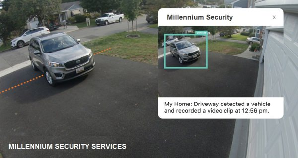 Camera for vehicle recognition in home driveway